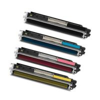 One Complete Set of Premium Compatible HP 130A CF350A CF351A CF352A CF353A Printer Toners for HP Printers m176n M177fw