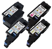 One Set Compatible Dell Toner CMYK for Dell 1250 1250C 1255 1350 1350CNW 1355 1355CN 1355CNW C1760 C1760NW C1765 C1765NF C1765NFW